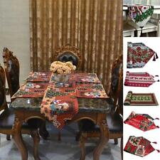 Santa Claus Printed Tapestry Table Runner Kitchen Dining Room Christmas Decor