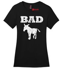 Bad @ss Donkey Funny Ladies T Shirt Distressed Donkey Animal Rude Party Tee Z4