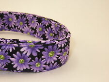 Purple Daisy Floral Adjustable Dog Collars & Martingales & Leashes & Cat Collars