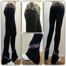 Ice Figure Skating Dress Practice Trousers Pants VCSP21 skating pants hearts VC