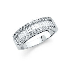 14k Solid White Gold Diamond Wedding Band Anniversary Ring 1.75 Ct