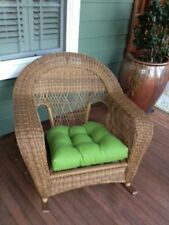 """21"""" X 21""""  XL Large """"U""""  TuftedCushion for Wicker Chair ~Outdoor ~Select Color"""
