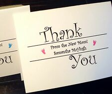 50 Personalized Thank You Note Cards Stationery NEW BABY Custom Shower Thank you