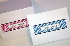 24 Personalized Chevron Thank You Note Cards Stationery Envelopes, Shower Gift