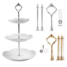 2/3 Tier Cake Cupcake Plate Stand Handle Hardware Fitting Holder Royal Crown
