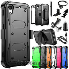 REFINED ARMOR COVER PHONE CASE & SWIVEL HOLSTER FOR HTC DESIRE 530 626 +BUNDLE