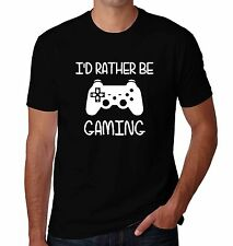 I'd Rather Be Gaming Nerd Geek Gamer Antisocial Introvert Funny Men's