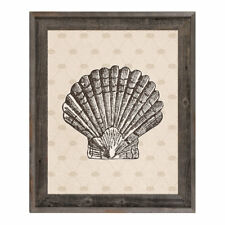 Click Wall Art Vintage Shell Sandy Framed Graphic Art on Canvas