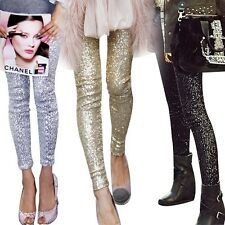 Womens Skinny Tight Leggings Stretch Pant Slim Jeggings Pencil Trouser Clubwear