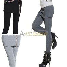 Women Warm Winter Skinny Slim Leggings Thick Footless Long Stretch Pants