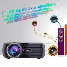 Mini Multimedia LED Projector Home Theater TV 3D VGA/HDMI HD 1080P Business I6H1