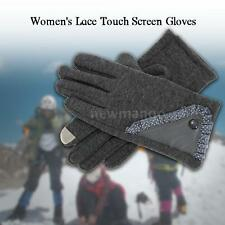 NEW WINTER GLOVES WOMEN'S STYLISH LACE TOUCH SCREEN GLOVES LINED THICK WARM N9P0