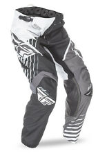 FLY Racing Kinetic Vector 2016 Youth MX/Offroad Pants Black/White/Gray