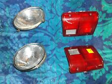 1990 MITSUBISHI MONTERO 4X4 4 DOOR PAIR REAR TAIL LIGHT LENSES HEADLIGHT RINGS