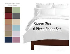 Deep Pocket (6) Piece QUEEN Sheet set Super soft Hypollergenic Microfiber Sheets