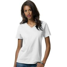 Hanes Relaxed Fit Womens ComfortSoft V-Neck T-Shirt  10 COLORS - Size S to 3XL