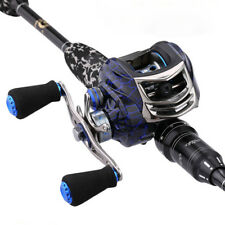 15BB Baitcasting Fishing Reel Magnetic Right Left Handed Baitcaster Lure Leopard
