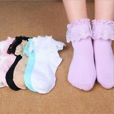 Ankle Socks Sweet Women Lace  Ruffle Fashion Frilly Princess Girl Hot New Cute