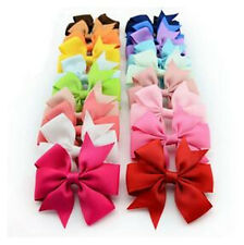 Hot Clips Fashion Ribbon Hair Grosgrain Bow Hairpin 1PC Boutique Baby Big Girls