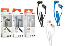 New.Genuine Headphones JBL T110 Pure Bass sound in-Ear headphones.Microfone