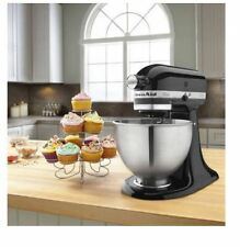 KitchenAid K45SS Classic 250W Stand Mixer, Stainless Steel Bowl, Blender, Black