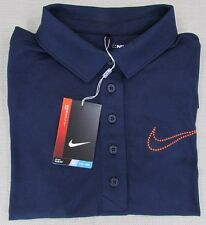 NIKE GOLF DRI FIT Women's Performance Athletic Polo Shirt Navy XSmall NEW NWT