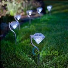 4Pcs Outdoor Solar Powered LED Pathway Walkway Landscape Garden Lawn Lamp Lights