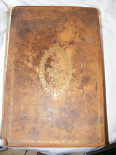 ANTIQUE ILLUSTRATED LARGE WELSH FAMILY BIBLE LEATHER BOUND BY PETER WILLIAMS