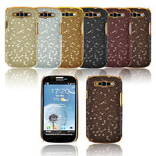Samsung Galaxy S3 SIII i9300 Hard Back PU Leather  Argyle Design Case Cover