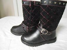 """New 1.4.3. Girls """"Lil Riley"""" Toddler  black boots retail $45 size 5"""