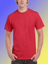 NEW BLANK PLAIN TSHIRT - Red - Assorted Sizes 100% Cotton