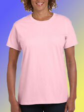 NEW BLANK PLAIN TSHIRT - Pink Ladies Style - Size XS (8)  100% Cotton