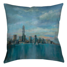 Manual Woodworkers & Weavers Manhattan Tower of Hope Printed Throw Pillow