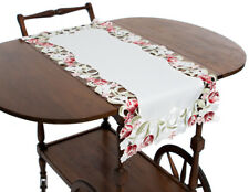 Manor Luxe Lush Rosette Embroidered Cutwork Table Runner