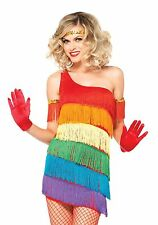 SALE LEG AVENUE Rainbow Flapper Charleston Womens Sexy Fancy Dress Costume 85217
