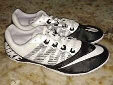 NEW Mens Youth Sz 5.5 8 NIKE RIVAL S 7 White Black Sprint Track Spikes Shoes