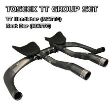 TOSEEK Carbon Triathlon Time Trial TT Bike Handlebar + Rest Bar SET - MATTE