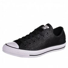 Converse All Star OX Stingray Metallic Sneakers trainers Chucks black 553349C