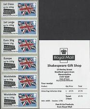 GB POST & GO MINT SHAKESPEARE BIRTHPLACE AND ROYAL SIGNALS FIRST DAY OF ISSUE