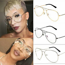 2016 Eyeglasses Retro Big Round Metal Frame Clear Lens Glasses Nerd Spectacles