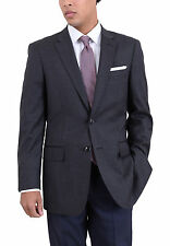 Arthur Black Classic Fit Gray Check Two Button Wool Blazer Sportcoat