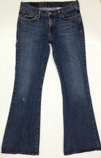 LUCKY BRAND Women's Flare Leg Blue Jeans Size 8/ 28 (inseam 31) made in USA