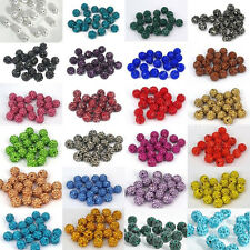 Candy Colors 20Pcs Czech Crystal Rhinestones Pave Clay Round Ball Spacer Beads