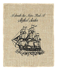 Fiber & Water Schooner Sailboat Graphic Art