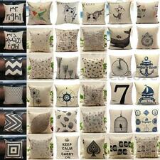 Fashion Vintage Cotton Linen Cushion Cover Throw Pillow Case Waist Home Decor
