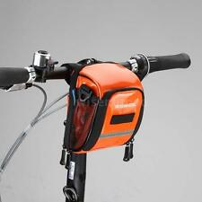 Bike Bicycle Cycling Front Handlebar Holder Pannier Pouch Waterproof Bag C7U5