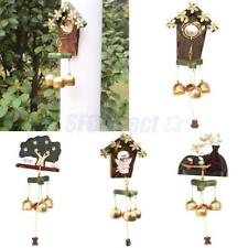 Lovely 3 Bells Wind Chime Copper Wood Aeolian Bell Indoor Outdoor Ornament Décor