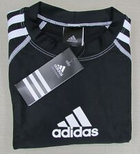 ADIDAS Youth Boy's Long Sleeve Swim Tee Rashguard Shirt Black Large Xlarge NEW