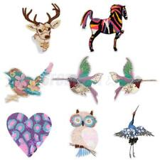 Sequin Animal Patches DIY Embroidery Sew On Applique Sewing Repair Patch