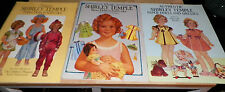Lot of 3 Classic Shirley Temple Paper Dolls Full Color